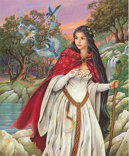 Femme druide for Au dela du miroir lille